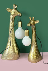 Gold giraffe head table lamp