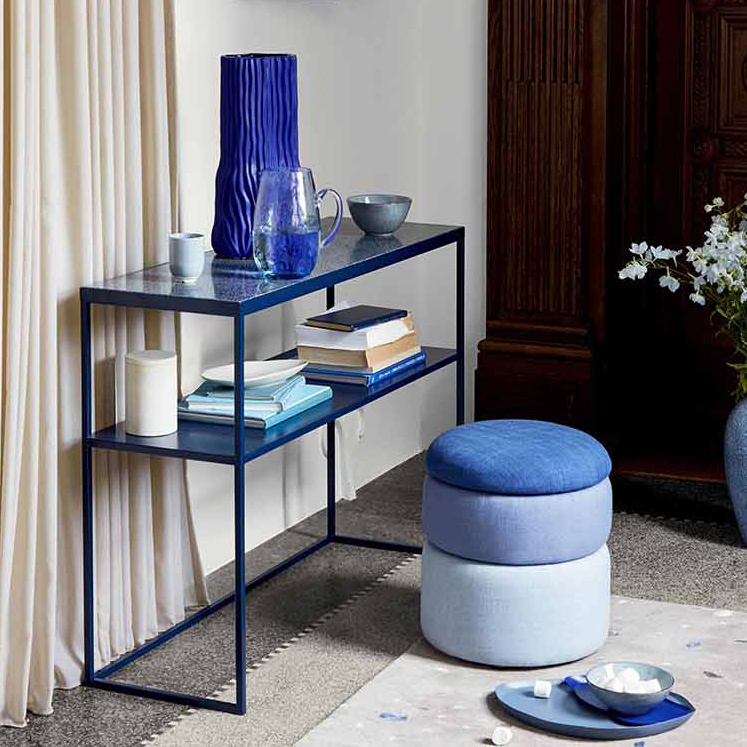 Grote blauwe Deens design vaas
