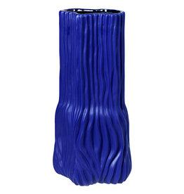 Blauwe design vaas