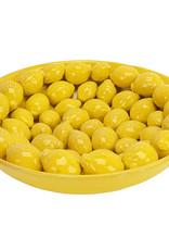Gele citroenschaal van keramiek