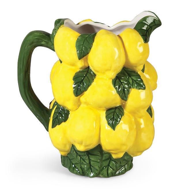 Yellow ceramic lemons jug or vase