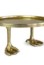 Gold bird feet plate or tray