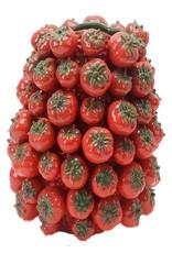 Red ceramic tomatoes vase or planter