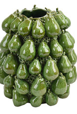 Groene perenvaas van keramiek