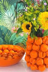 Oranje sinaasappels vaas van keramiek