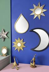 Ster met spiegels als wanddecoratie