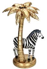 Zebra met palmboom kandelaar
