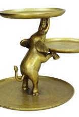 Gold elephant étagère