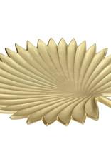Gouden palmblad bord of fruitschaal