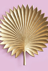 Large gold palm leave plate or dish