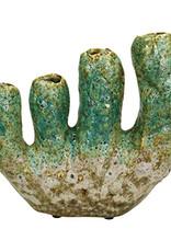 Groen keramiek koraal vaasje