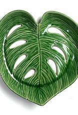 Green ceramic leaf dish or bowl