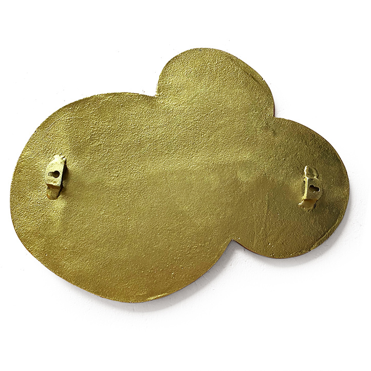 Gold cloud mirror wall decoration