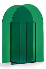 Design vaas van groen glas