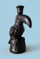 Zwarte toekan vogel kandelaar