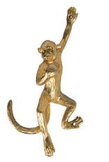 Gouden aap wandhaakje