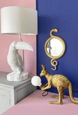 White toucan bird table lamp