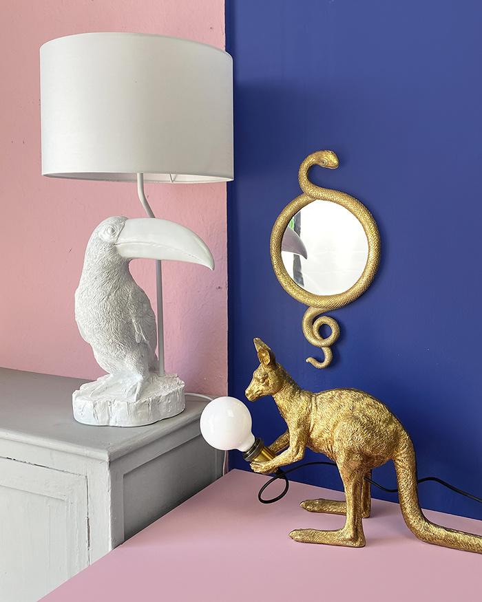 Gouden slang spiegel
