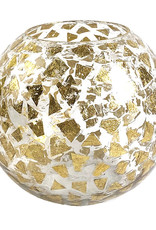Glass globe vase with gold speckles