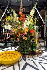 Yellow ceramic lemons plate or dish.