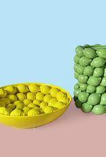 Green ceramic lemons vase or planter