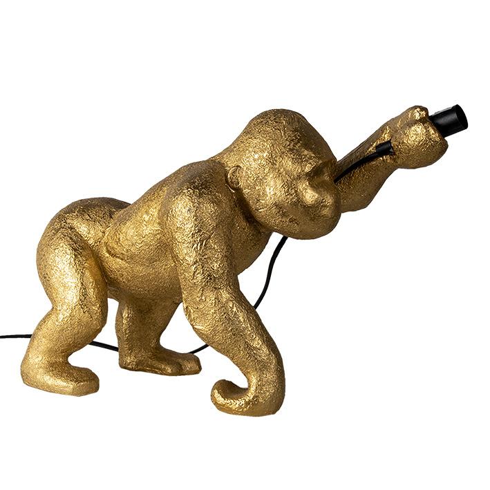 Gold gorilla monkey table light