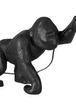 Zwarte gorilla aap tafellamp
