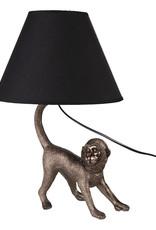 Aapje tafellamp met lampenkap