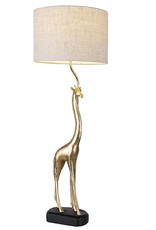 Gold giraffe table lamp with light shade