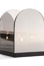 Smoked glass tea light holder