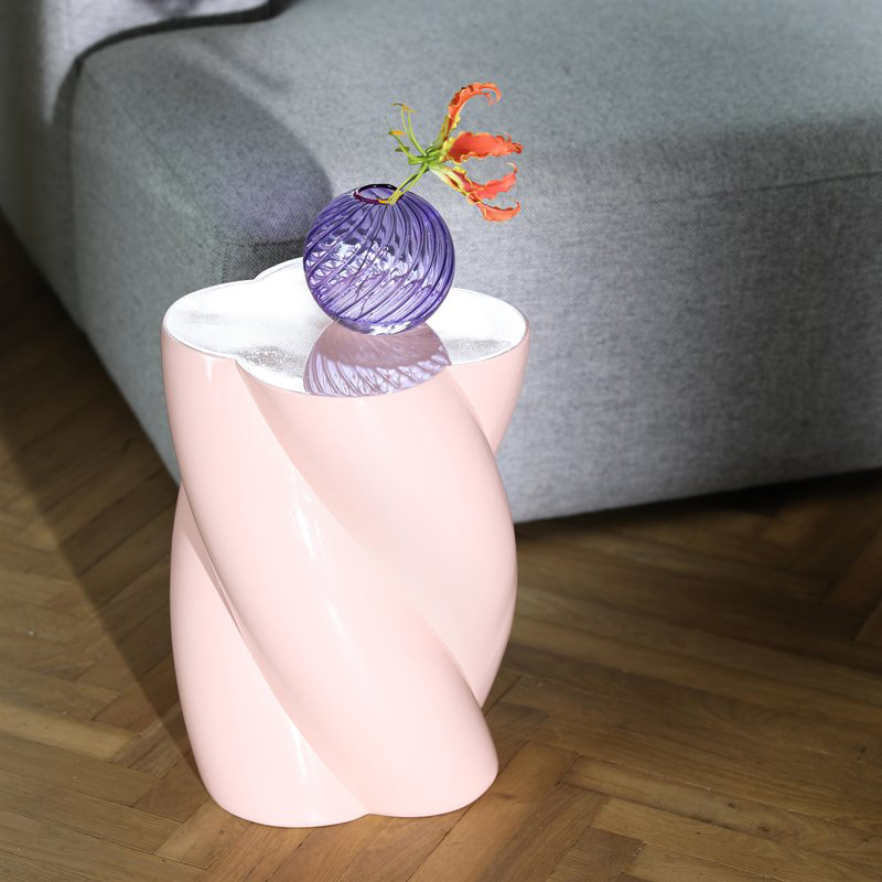 Modern and quirky design pink side table
