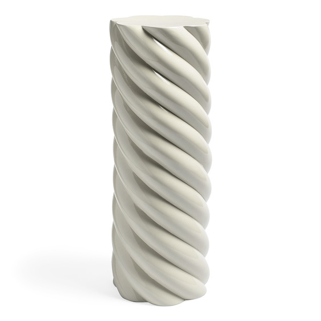 Modern and quirky design pillar in grey