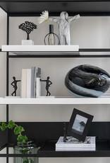 "Design tafellamp van zwart glas ""Opal"""
