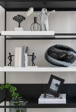 "Modern black glass table lamp ""Opal"""
