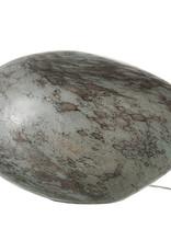 "Modern grey glass table lamp ""Opal"""