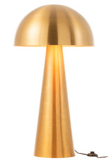 Gold metal mushroom shape floor lamp