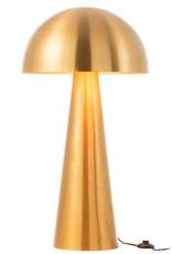 Goud metalen design vloerlamp in de vorm van een paddestoel