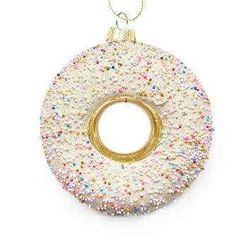 Gold donut Christmas tree ornament