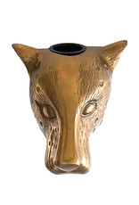 Large leopard head wall vase