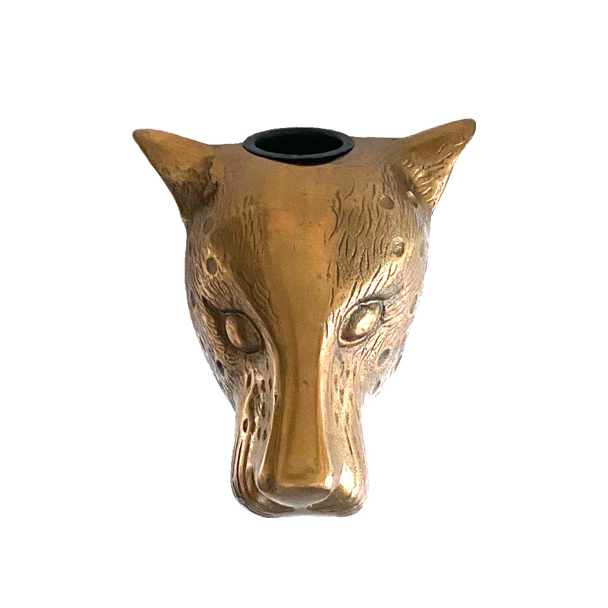 Wandvaas in de vorm van een luipaard dierenkop