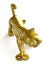 Gouden tijger wandhaakje wanddecoratie