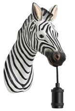 Zebra dierenkop wandlamp