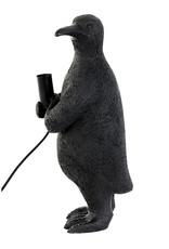 Zwarte pinguïn tafellamp