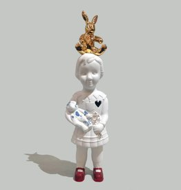 Doll with gold rabbit