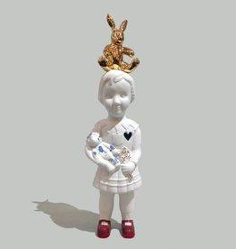 Pop met goud konijn