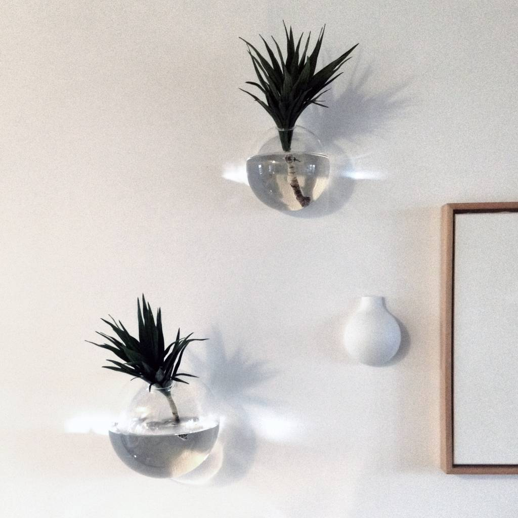 Modern design glass wall vase Drop""