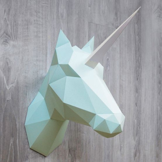 Paper Unicorn & Horse / Mint