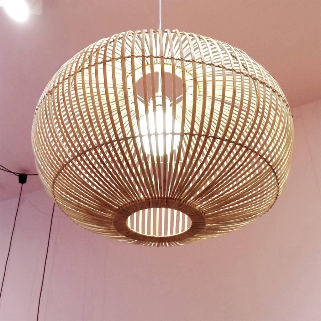 Grote design hanglamp van bamboe