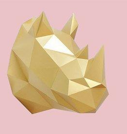 Papieren Neushoorn / Goud