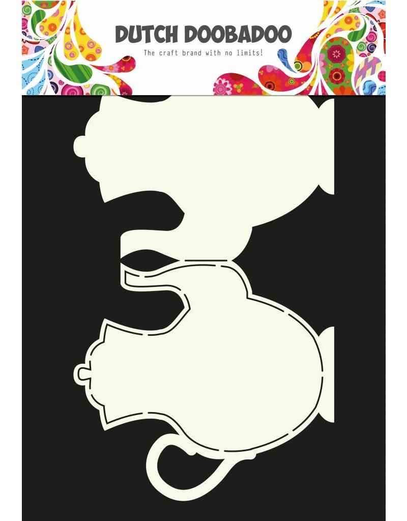 Dutch Doobadoo Dutch Fold Card Art A4 Teapot